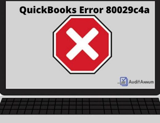 QuickBooks Error 80029c4a pic